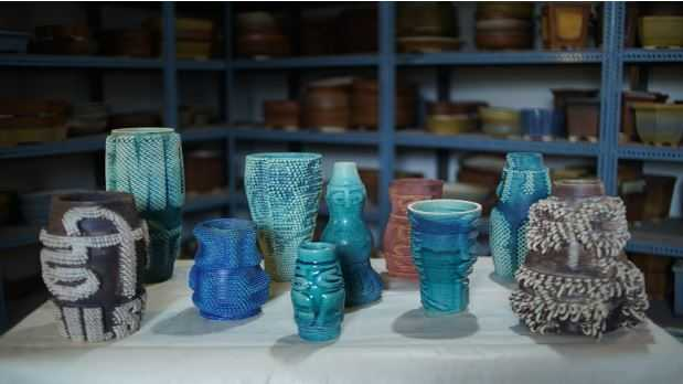 The Google Arts and Culture artwork using 3D Printing technology and traditional ceramics